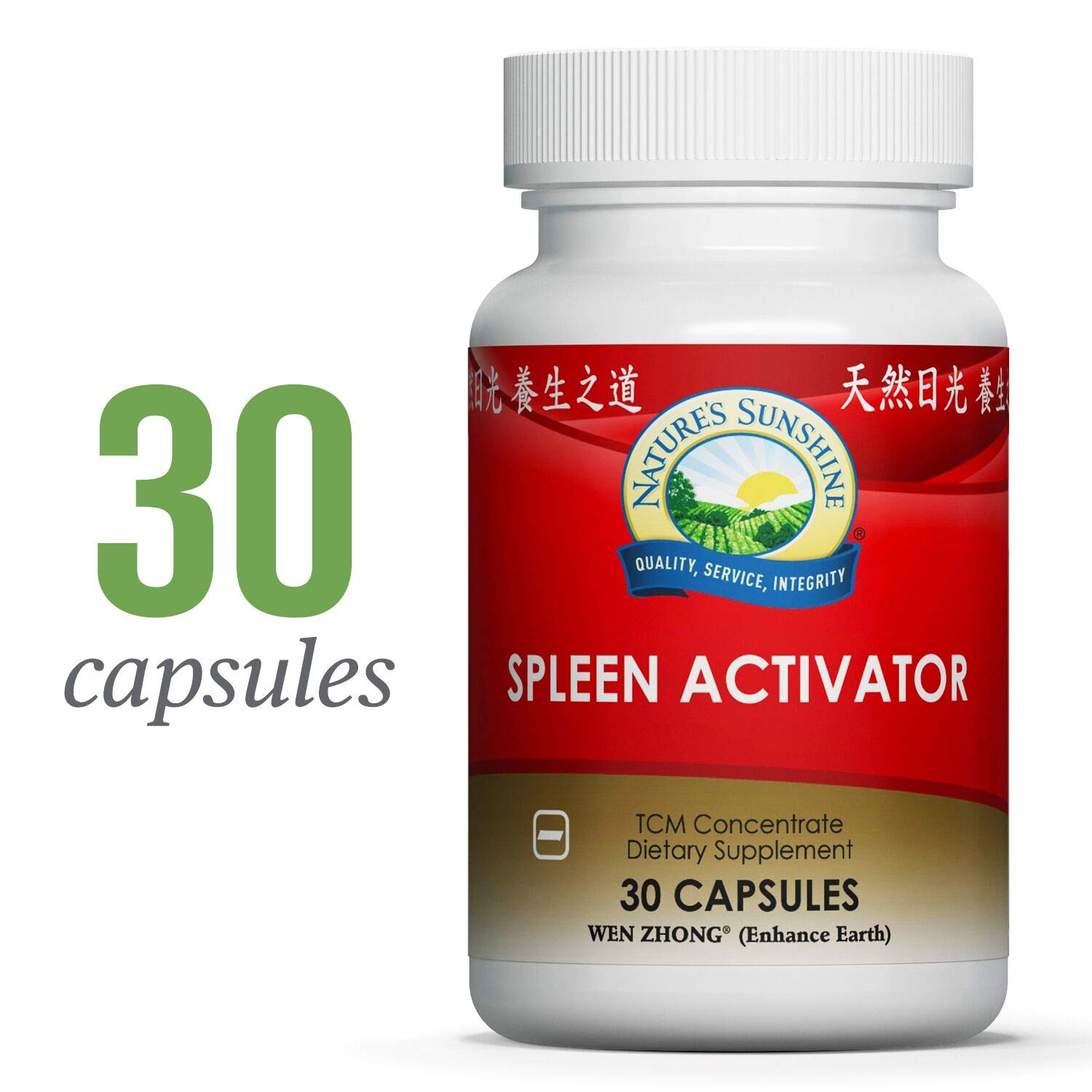 Nature s Sunshine Spleen Activator, TCM Concentrate, 30 Capsules Chinese Herbs Helps Support Digestion, Improve Circulation, and Increase Immunity
