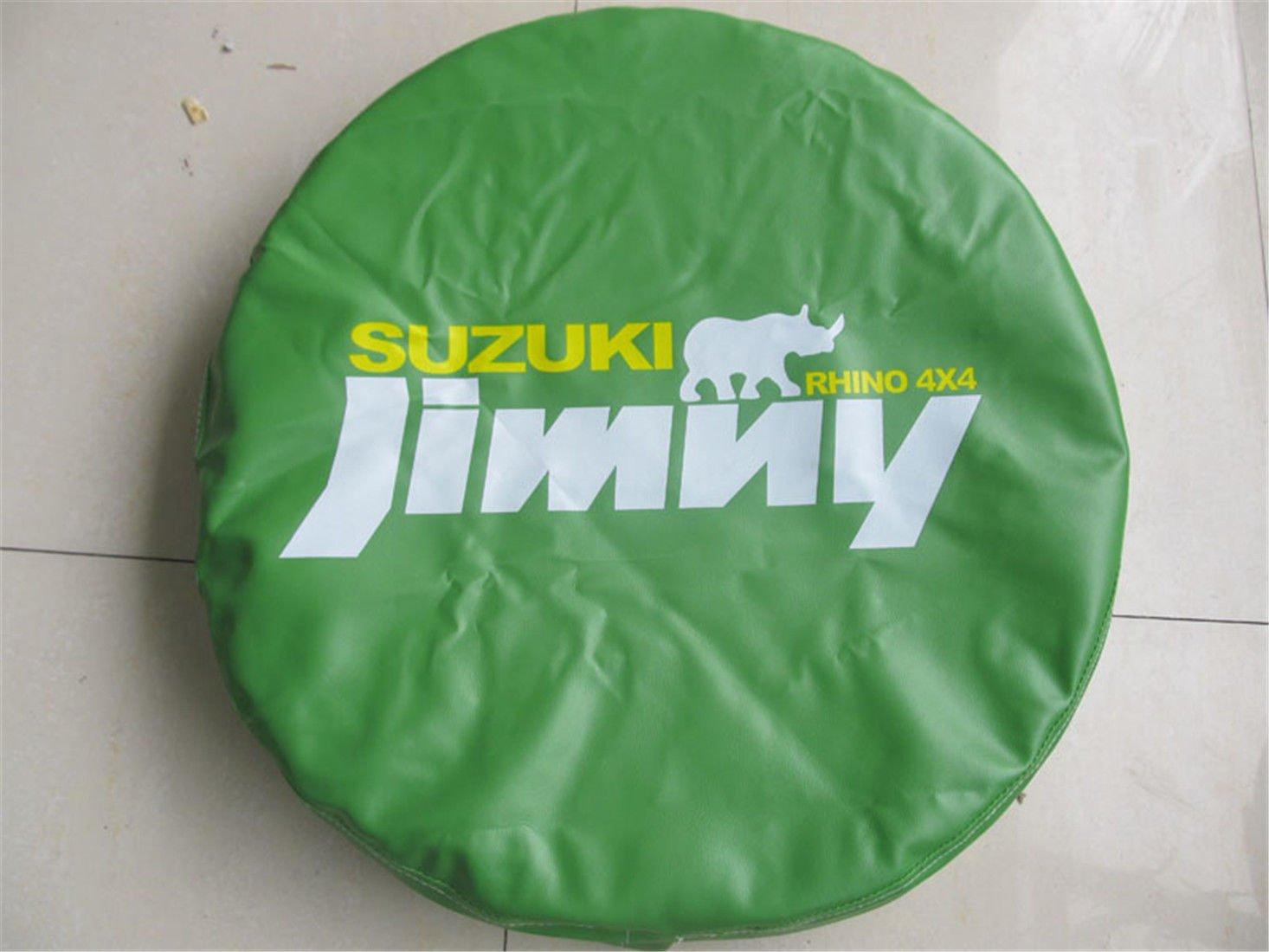 Bestmay 35, 6 cm rotella di ricambio per Uzuki S g Rand V Itara con logo Jimny verde nuovo 6cm rotella di ricambio per Uzuki S g Rand V Itara con logo Jimny verde nuovo