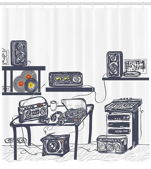 GAOFENFFR Cortina de Ducha Moderna, Estudio de grabación con ...