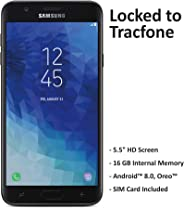 ($50 eGift Card Promotion) TracFone Carrier-Locked Samsung Galaxy J7 Crown 4G LTE Prepaid Smartphone - Black - 16GB - Sim Ca