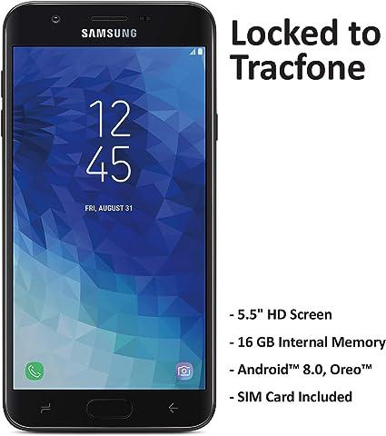 TracFone Carrier-Locked Samsung Galaxy J7 Crown 4G LTE Prepaid Smartphone - Black - 16GB - Sim Card Included - CDMA