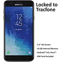 TracFone Samsung Galaxy J7 Crown 4G LTE Prepaid Smartphone (Locked) - Black - 16GB - Sim Card Included - CDMA