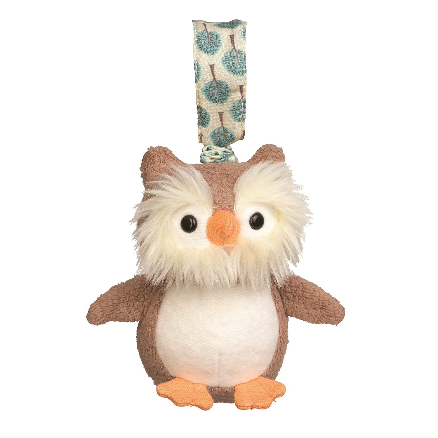 Apple Park Owl Stroller Baby Toy - for Newborns, Infants, Toddlers - Hypoallergenic, 100% Organic Cotton