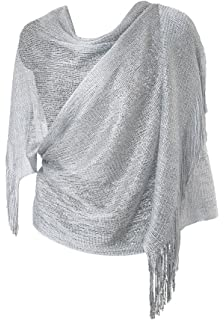 Womens Evening Wrap Stole Shawl For Wedding, Parties, Bridesmaid,Prom Scarf with Fringe