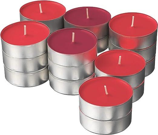Ikea SINNLIG - Velas perfumadas (59 mm, 24 Unidades), diseño de Bayas de jardín, Color Rojo: Amazon.es: Hogar
