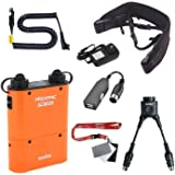 Fomito Godox PB960 Tragbarer Akku für Kamerablitz, doppelter Anschluss für Blitzgeräte von Nikon SB910, SB900, SB800, SB28 EURO, SB28DX, SB80DX, für AD600 AD360ii AD360 AD180, für Mobiltelefon, Orange