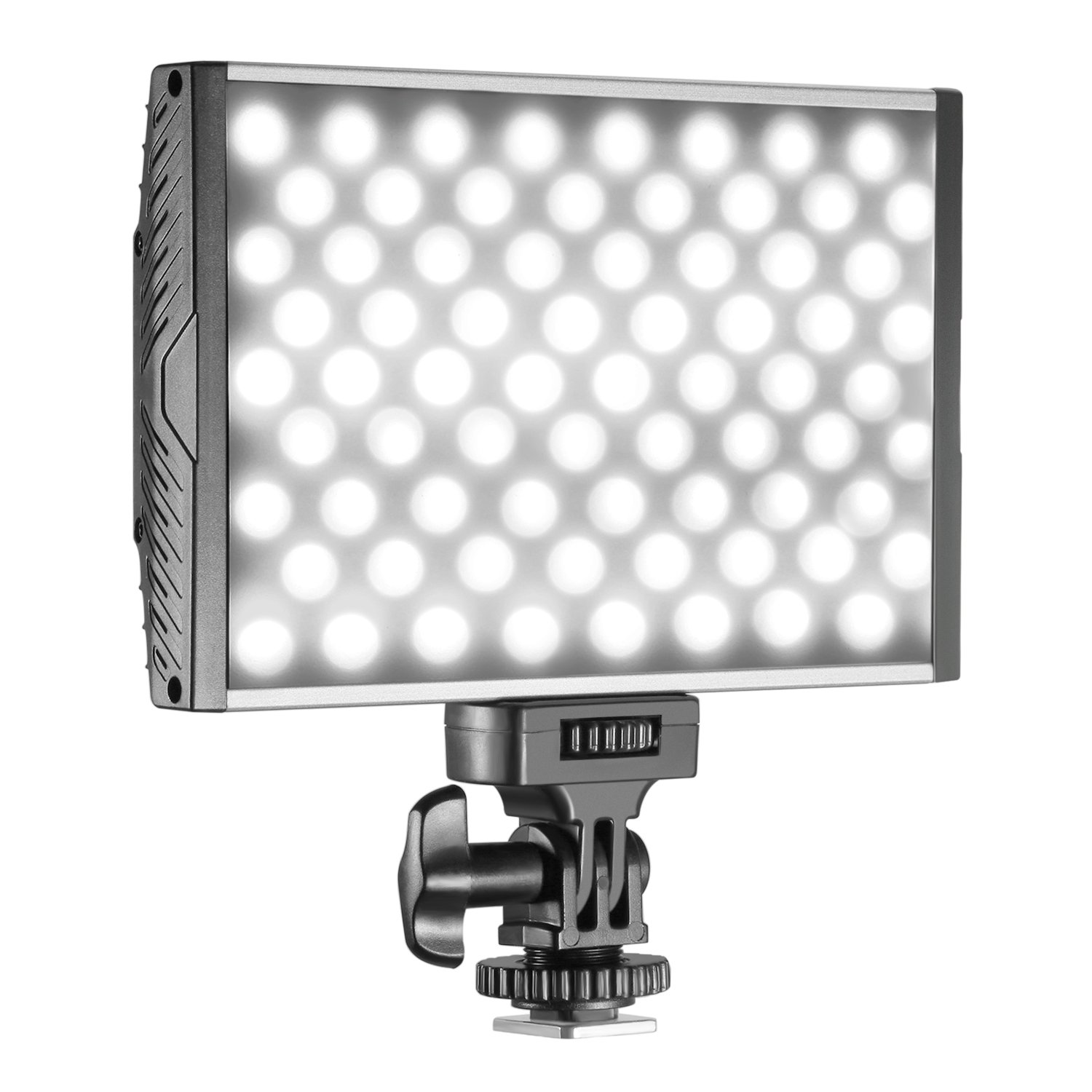 Neewer 144 LED PT-15B PRO Dimmable Camera/Camcorder Video Light Panel with Hot Shoe, Ultra-thin Bi-color Temperature 3200K-5600K LED Light for Canon Nikon Sony Pentax Panasonic Olympus DSLR 10089184