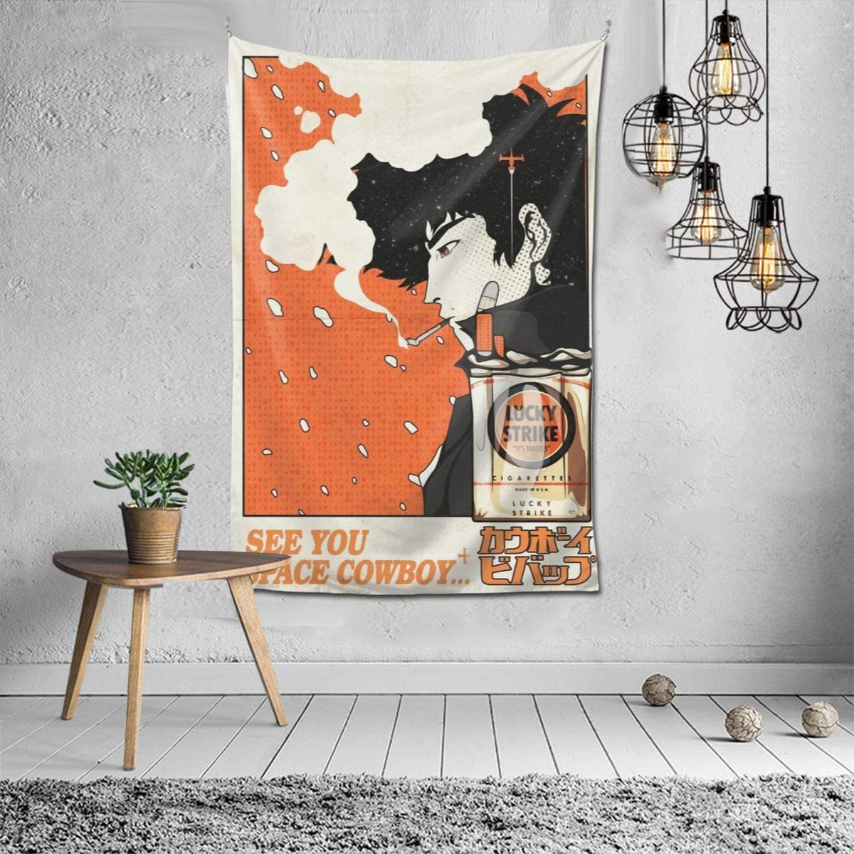 Anime Cowboy Bebop See You Space Spike Spiegel Wall Art Hanging Decor Tapestry 60×40 Inch
