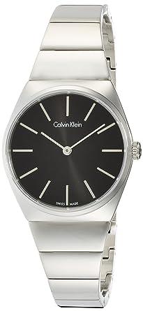Calvin Klein Reloj Analógico para Mujer de Cuarzo con Correa en Acero Inoxidable K6C2X141: Amazon.es: Relojes
