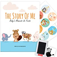 Baby Memory Book - Photo Album, Journal & Scrapbook for Newborn (Ink Pad & Monthly...
