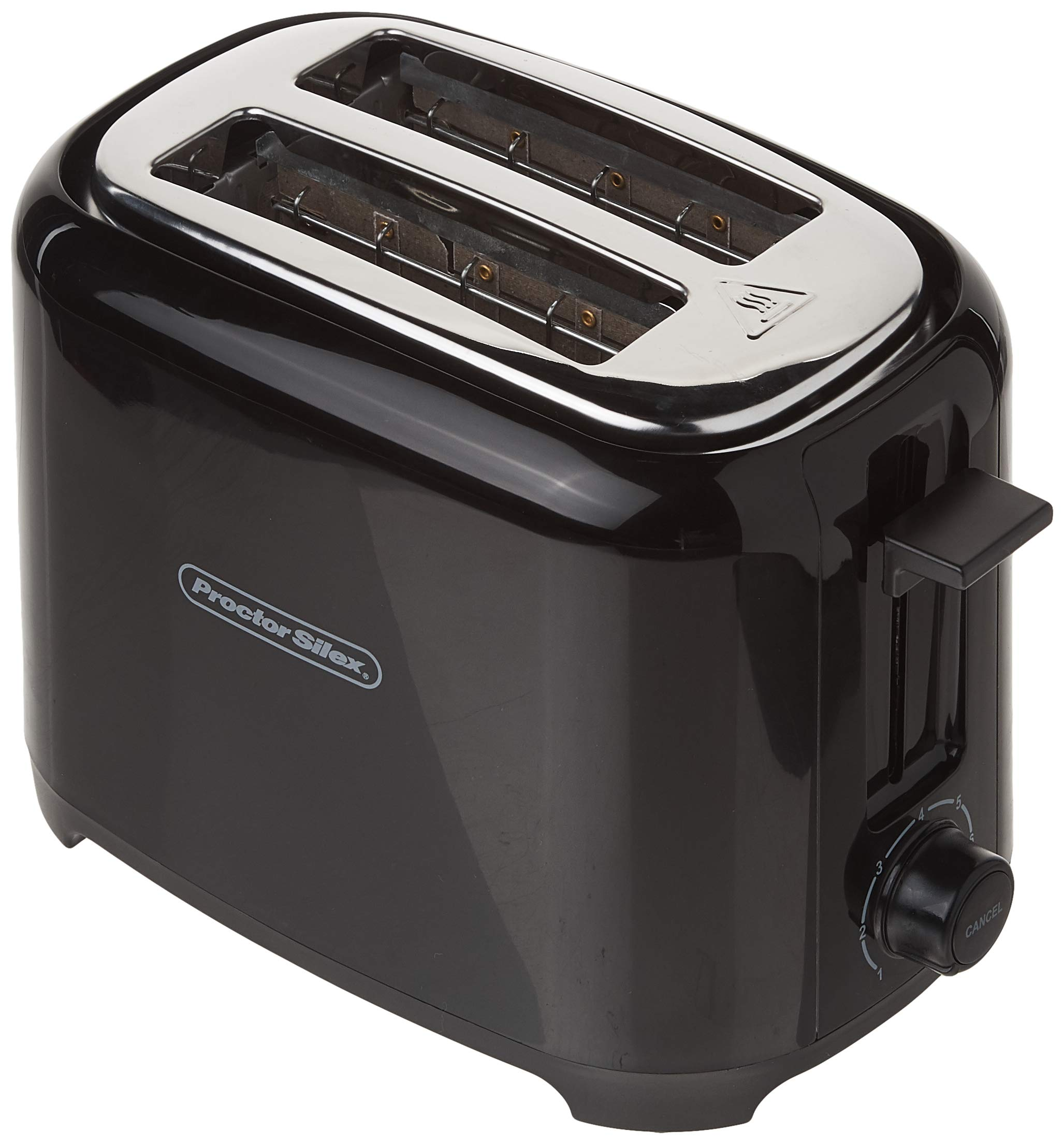 Proctor Silex 2-Slice Extra-Wide Slot Toaster With Cool Wall, Shade Selector, Toast Boost, Auto Shut-Off And Cancel Button, Black (22215) by Proctor Silex