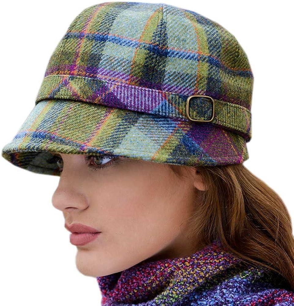 Ladies Tweed Plaid Flapper Hat, Made in Ireland,