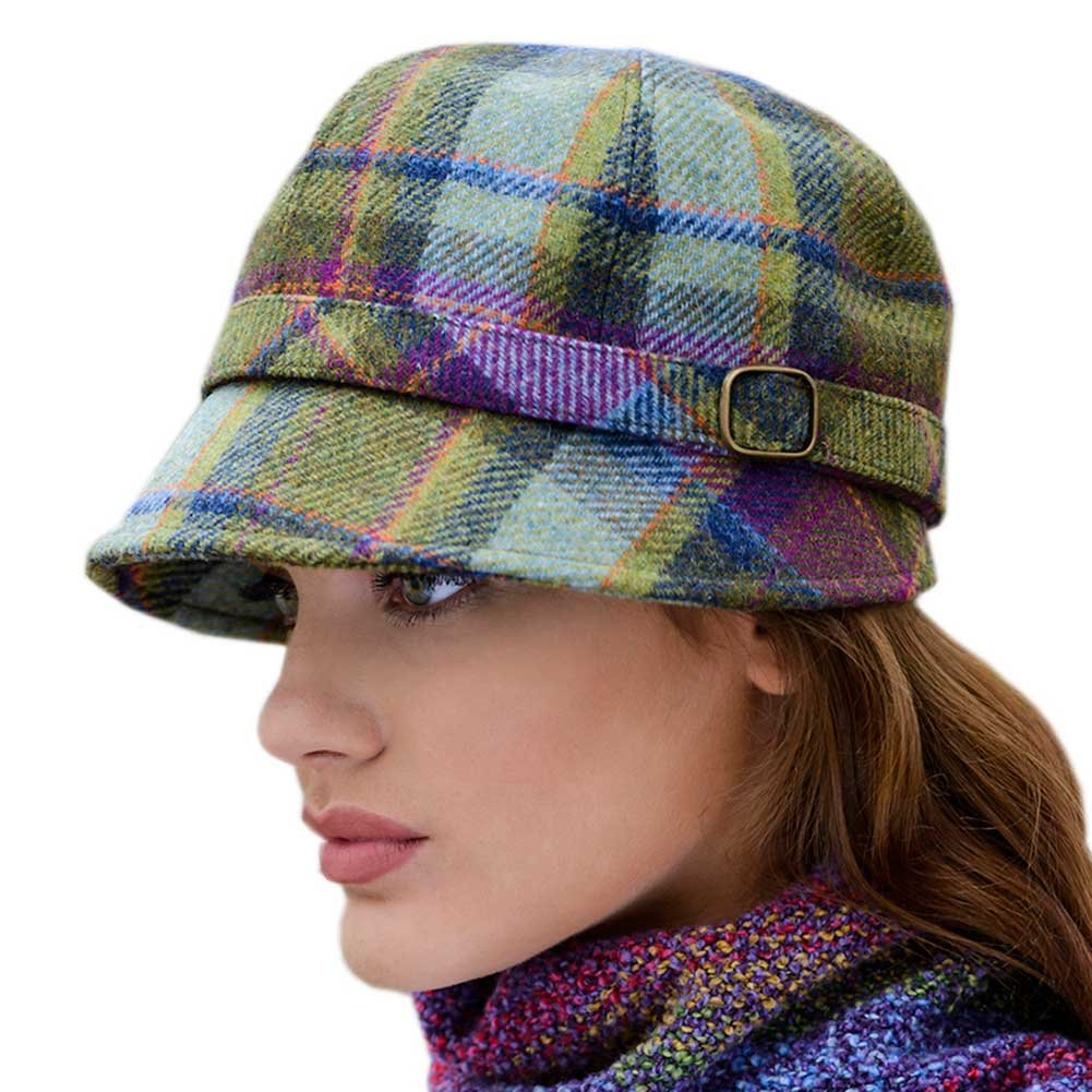 713ef8fa2 Ladies Plaid Flapper Hat, Made in Ireland, Purple