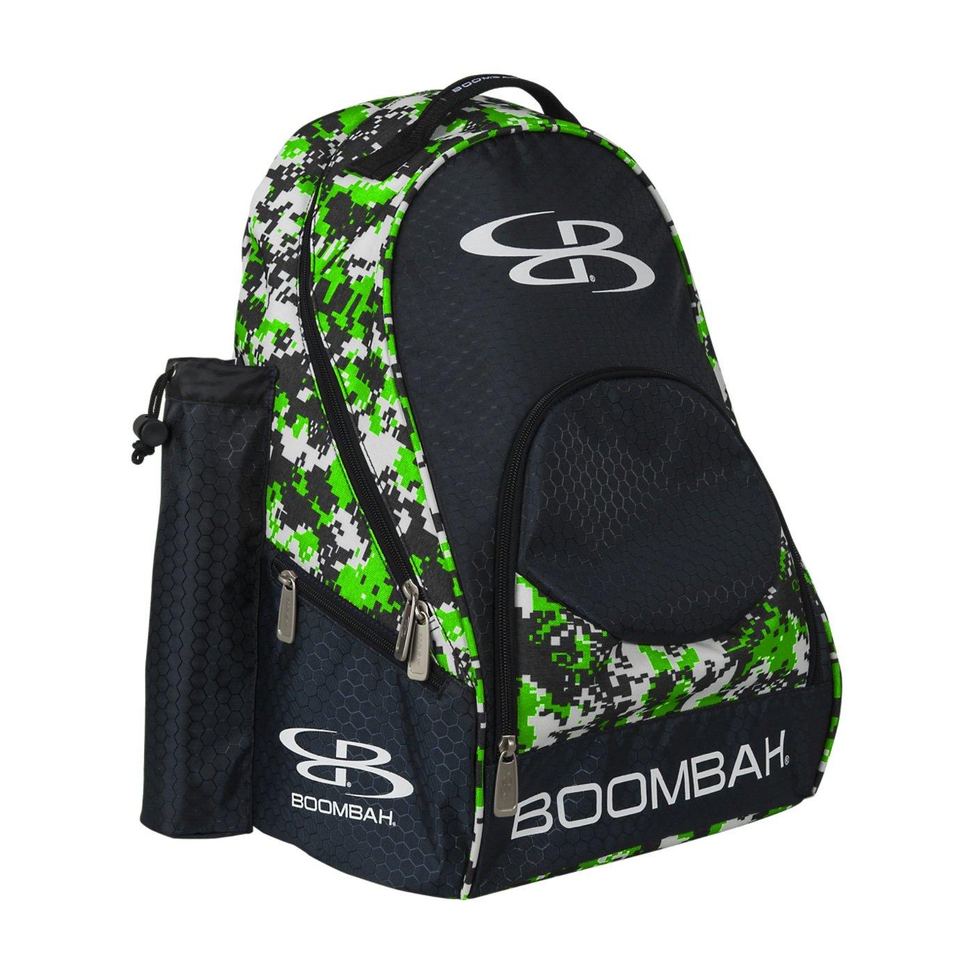 (ブームバー) Boombah Tyroシリーズ 野球/ソフトボールバットが収納できるバックパック 20x 15x10インチ 迷彩柄 20色展開 2-3/4インチまでのバットを2本収納可 B01NACUFVJ ブラック/ライムグリーン ブラック/ライムグリーン