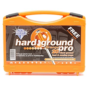 Blue Diamond Hard Ground Pro Tent Pegs Orange Case of 20  sc 1 st  Amazon UK & Blue Diamond Hard Ground Pro Tent Pegs Orange Case of 20: Amazon ...