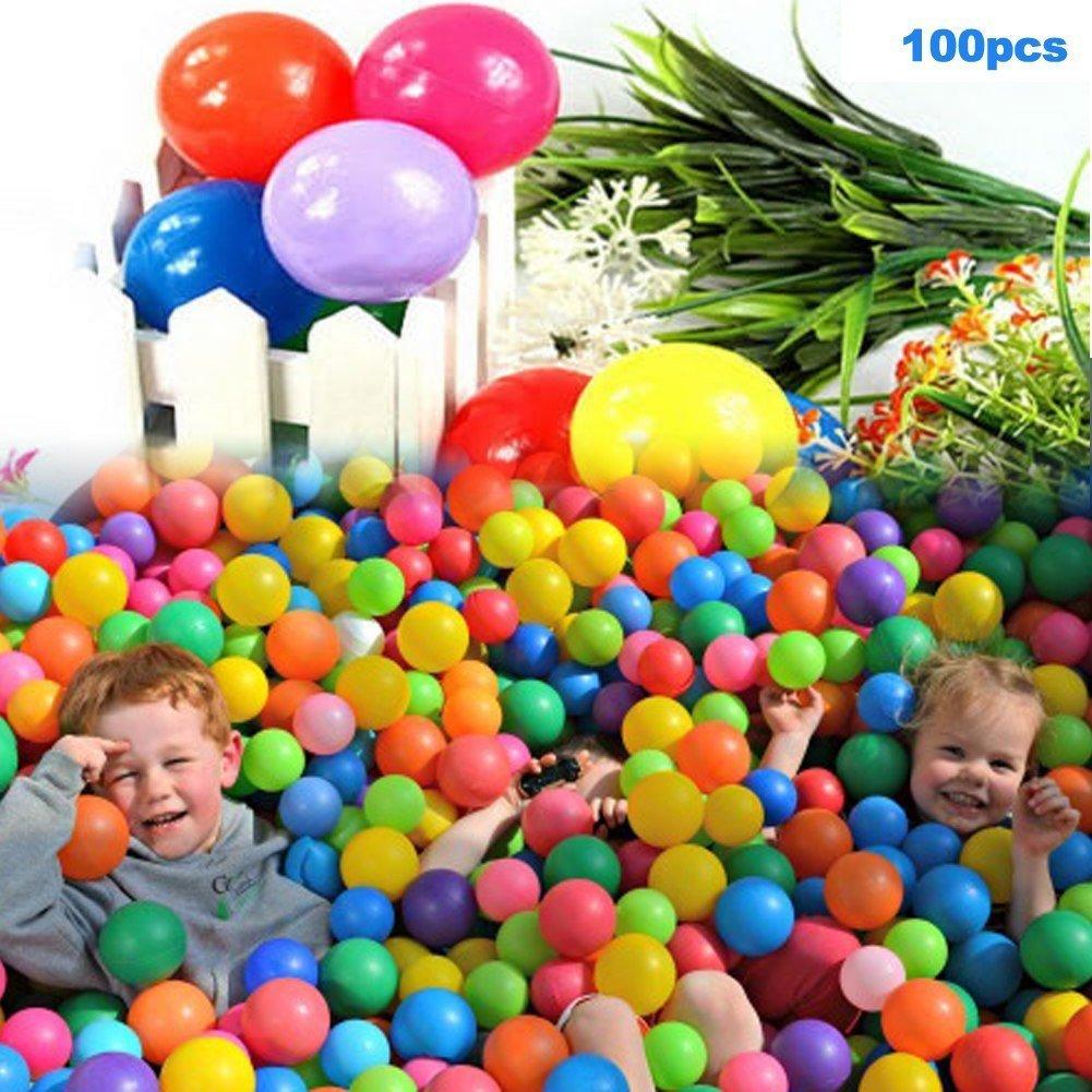 E Support 3000PCS Colorful Plastic Ball Pit Balls Baby Kids Tent Swim Toys Ball Pool Ball Ocean Ball