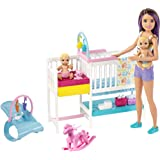 Barbie Nursery Playset with Skipper Babysitters...