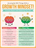 Honey Paper Co Growth Mindset Poster - 12 x 16 Educational Poster for Classroom Decoration, Bulletin Boards - Inspire…