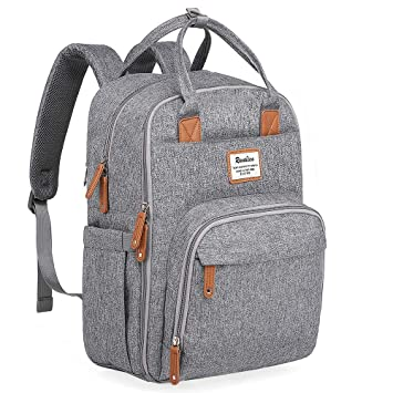 c9be49724fc3 Diaper Bag Backpack, Large Capacity Unisex Nappy Changing Bags for Boys and  Girls Waterproof...