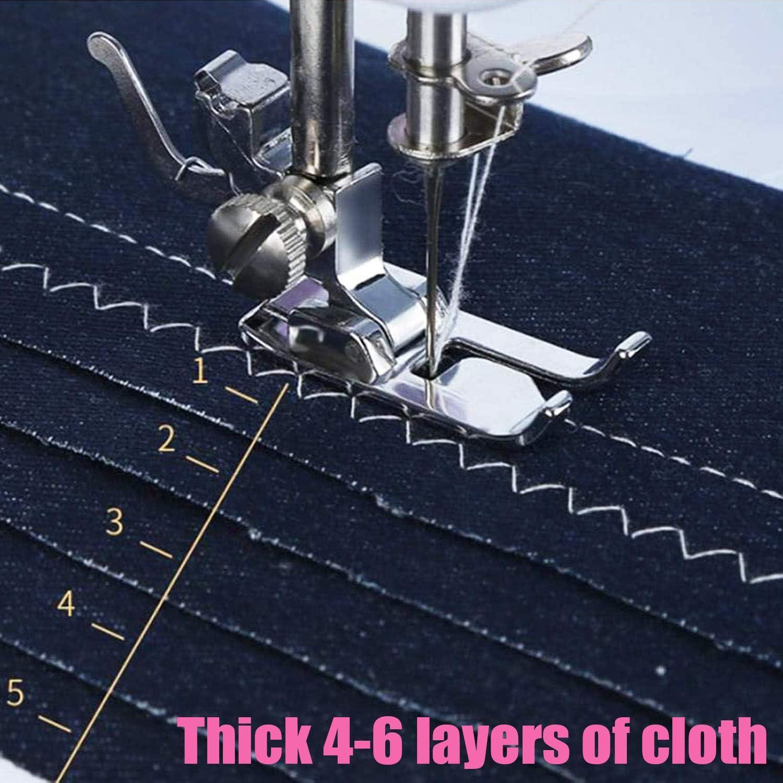 Mcree Mini máquina de coser portátil con 12 puntadas integradas, 2 ...