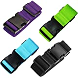 TRADERPLUS Luggage Straps Suitcase Belts Travel Bag Accessories (1 Pack included 4 Colors)