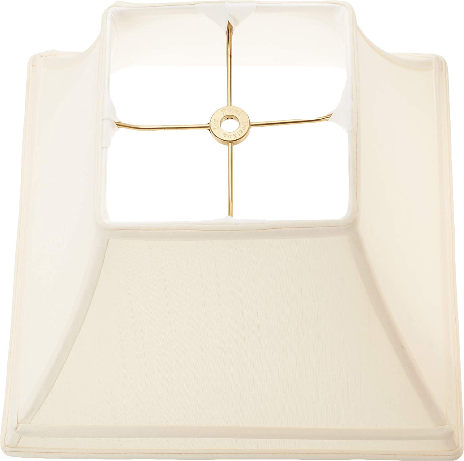 Royal Designs BS-740-12BLK Square Bell Gallery Basic Lamp Shade Black Inc. 6 x 12 x 9
