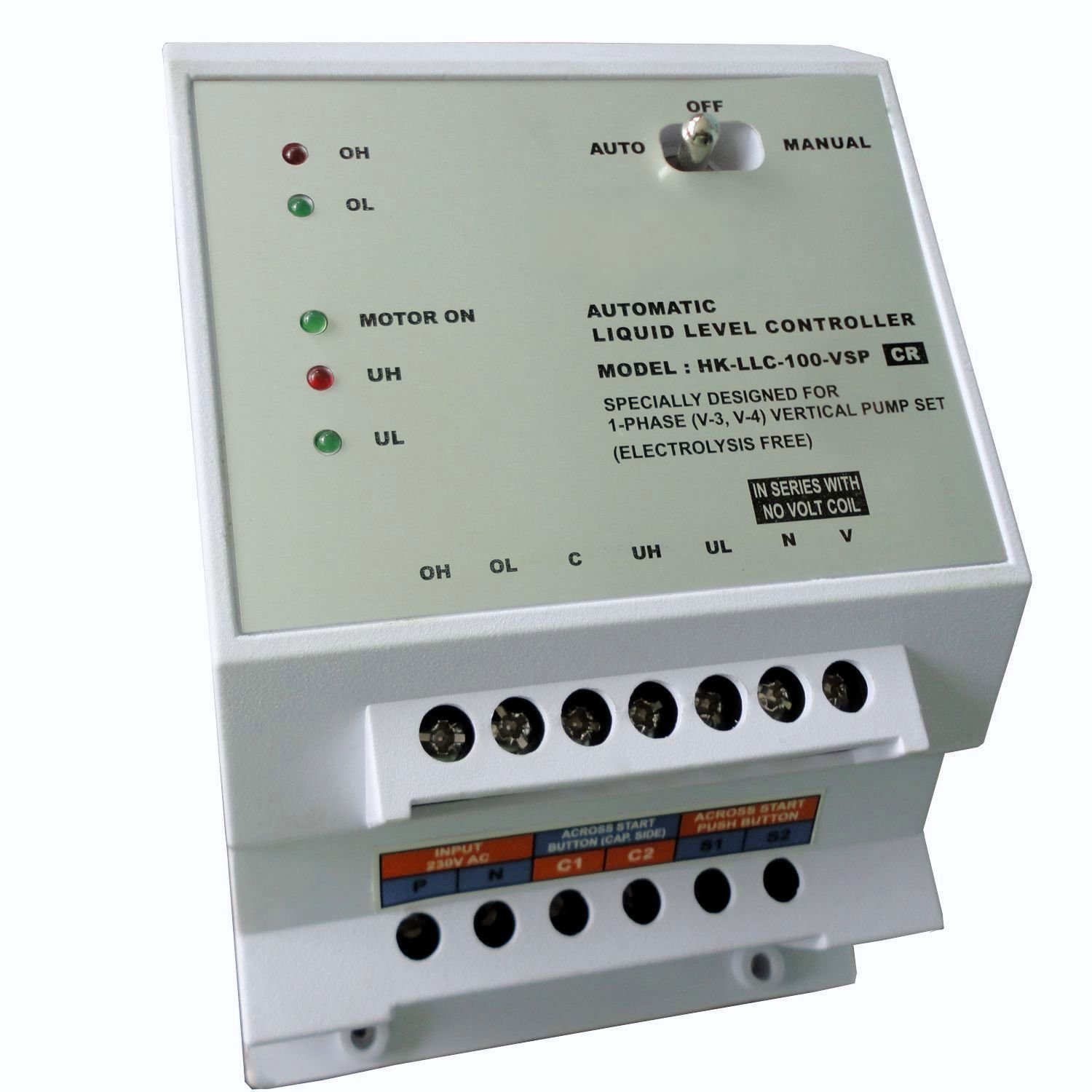 Walnut Innovations Automatic Water Level Controllerwater Electronic Control Relay Sensors For Single Ph Submersibles Operated By Starters Copper