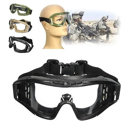 b51560edd43 Generic Fj-G006 Cs Airsoft Tactical Swat Safety Goggles Glasses Eye  Protection Mask Eyewear(black)  Amazon.co.uk  Kitchen   Home