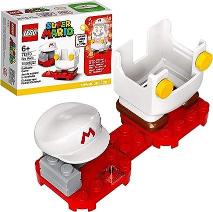 SUPER MARIO LEGO POWER UP PACK SET OF 4 CAT SUIT PROPELLER FIRE BUILDER NEW