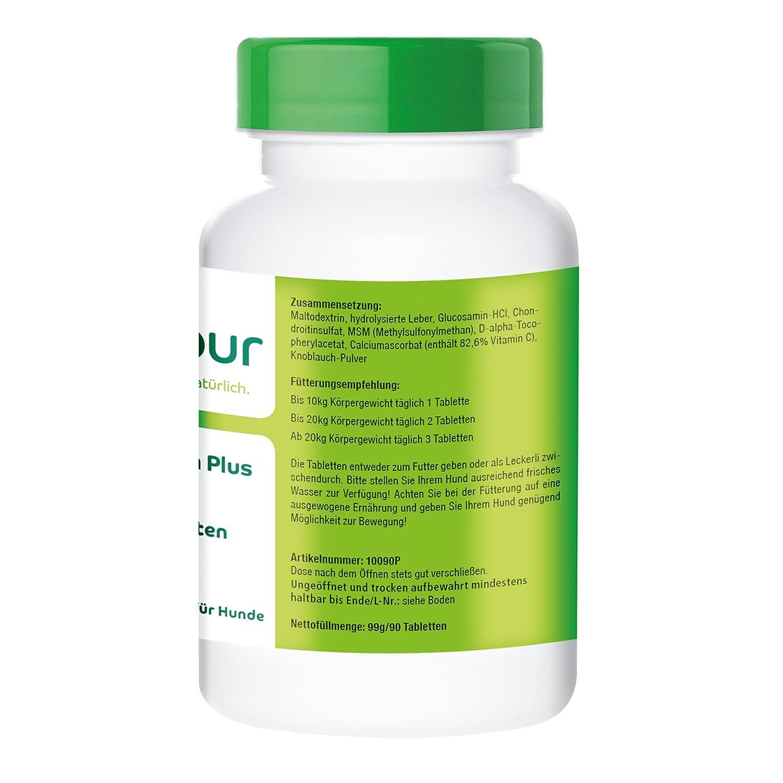 vetipur Glucosamina Plus - 90 Pastillas para perros - fuerte combinación con glucosamina, Condroitina, MSM, Vitamina C y Vitamina E: Amazon.es: Productos ...