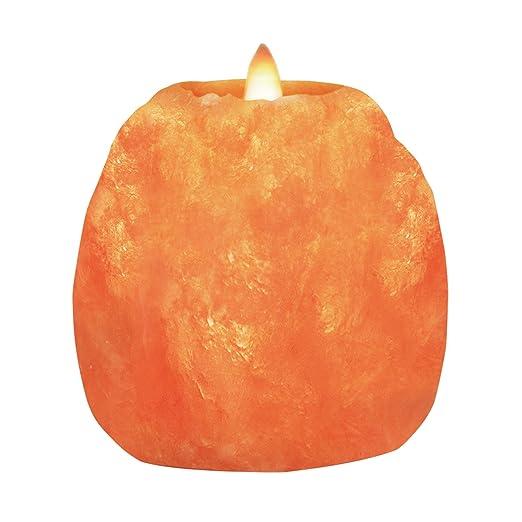 Himalayan Glow 3002 Candle Holder Salt Lamp Set Of 1 Pink