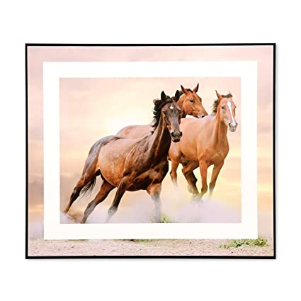 @home Paper and MDF Running Horse Painting (2.5 cm x 41.1 cm x 35.5 cm)