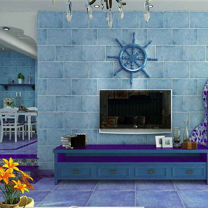 Komplexe antiken mediterranen Stil Tapeten/ blue Backstein Tapete ...