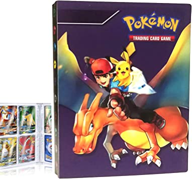 Blue Ash Hefter kompatibel Mit Pokemon Sammelalbum kompatibel Mit Pokemon Karten Halter Ordner Buch kompatibel mit Pokemon GX EX Trainer Album kompatibel mit Pokemon Karten