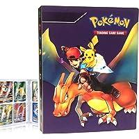 QIFAENY Album Compatible con Cartas Pokemon, Album Cartas Carpeta Cartas Compatible con Pokemon GX, Álbum de Cartas…