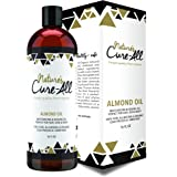 100% Pure Sweet Almond Oil for Skin and Hair (16 oz.) | Raw, Unrefined, Cold Pressed and Organic Skincare | Moisturize & Fight Dryness, Cracked Heels, Anti-Aging, Anti-Wrinkle and Baby Massage Oil.