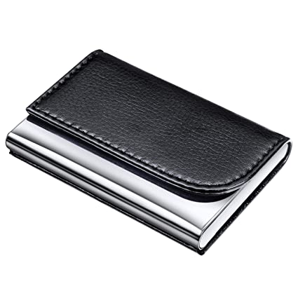 dmfly business card holder for women and men 2018 new version pu leather business card - Leather Business Card Case