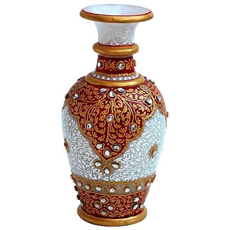 Amazon Com Handicrafts Paradise Kundan Embellished Marble Flower