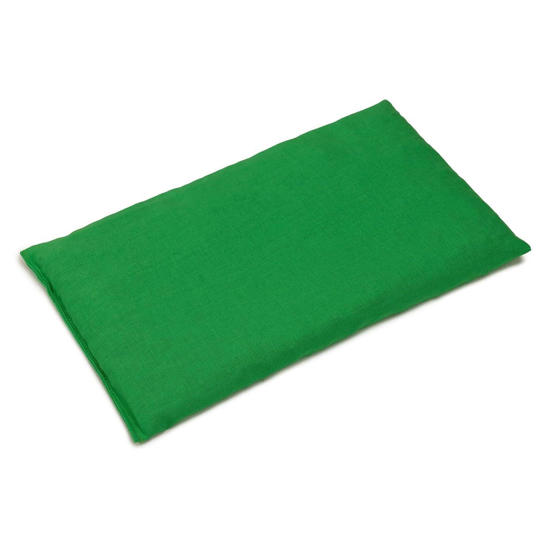 Almohada térmica de semillas 30x20cm verde claro | Saco térmico ...