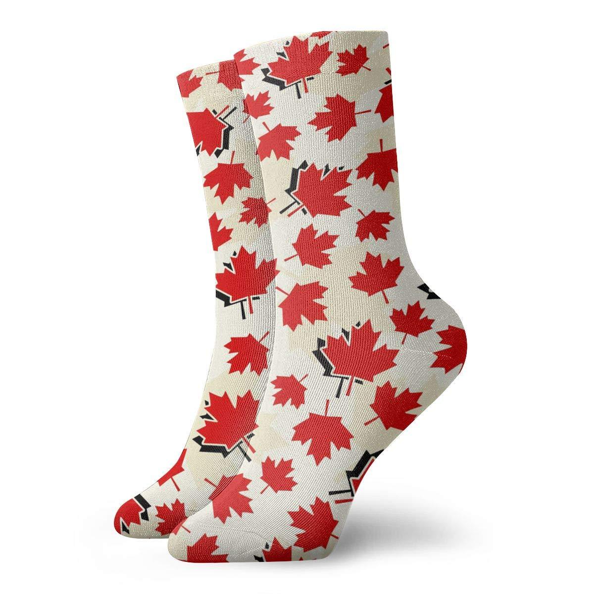 1e37557f7f05 Amazon.com  Canada Maple Leaf Women s Casual Athletic Stockings 30CM Long  Socks  Clothing