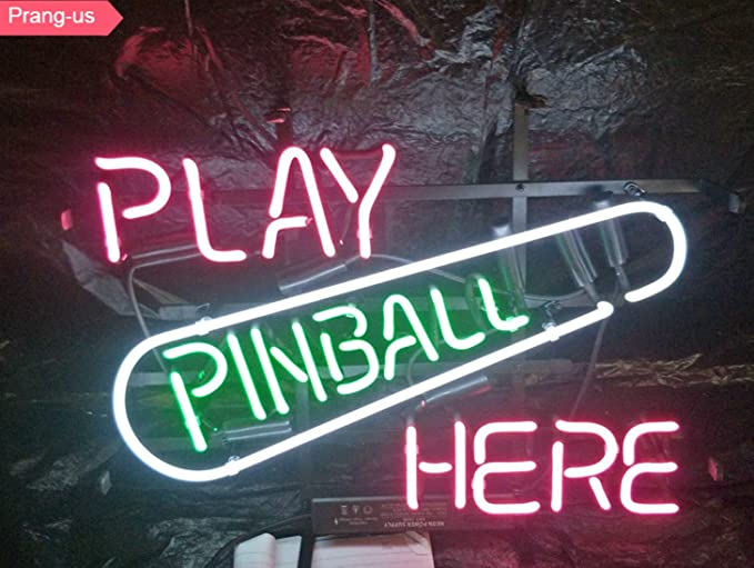 10f6d41c643a Prang-US Play Pinball Here Neon Signs 17×14 inch