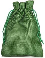 organzabeutel24 - 12 sacchettini in Tessuto Effetto Juta, Dimensioni: 15 x 10 cm, Confezione Regalo, Calendario dell'Avvento