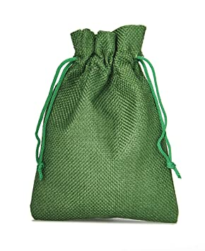 12 bolsas de tela con look de yute, tamaño 10x8 cm, bolsa ...