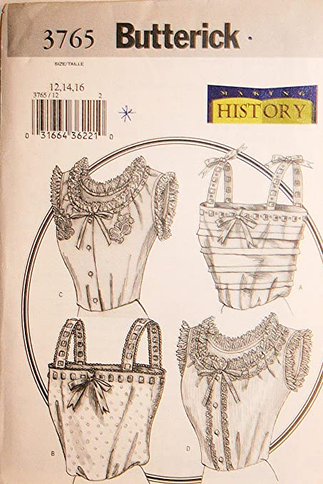 Butterick 3765 Victorian Camisole Retro Costume Sewing Pattern Size ...