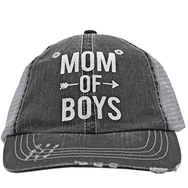 the best attitude 07b49 201f9 Image Unavailable. Image not available for. Color  White Glitter Mom Of  Boys Arrow Love Women Glittering Trucker Style Cap Hat