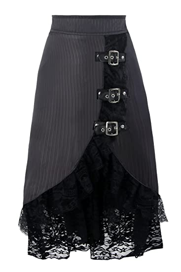 Steampunk Skirts | Bustle Skirts, Lace Skirts, Ruffle Skirts Charmian Womens Steampunk Retro Vintage Victorian Gypsy Hippie Lace Party Skirt $24.59 AT vintagedancer.com