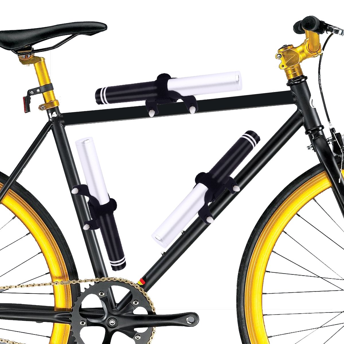 Mini Bike Pump, MEIBEI Aluminum Portable Hand Air Bicycle Pump ...