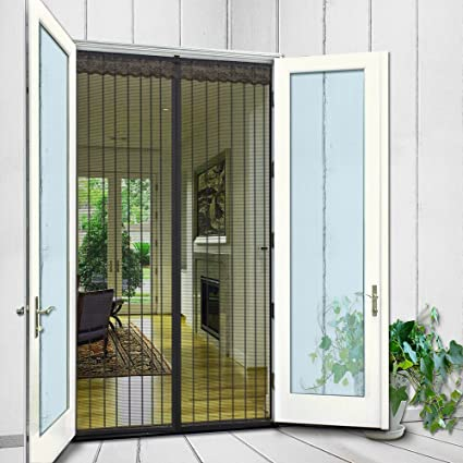 N Green Magnetic Screen Door 62u0026quot;x81u0026quot; Fits Door Up To 60u0026quot;