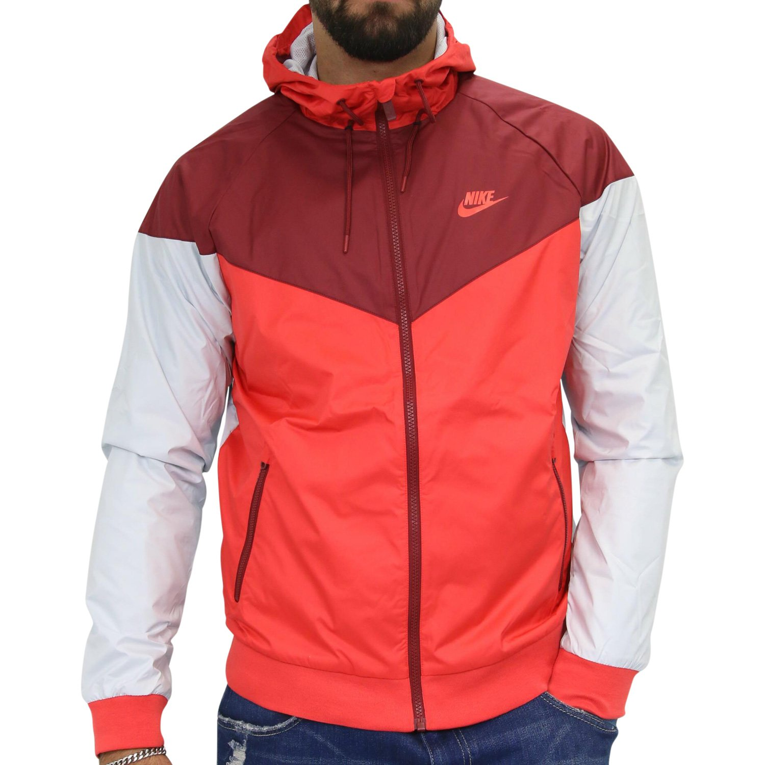 Galleon - Nike Mens Windrunner Hooded Track Jacket Track Red Team Red  White  727324-602 Size 2X-Large 66860485c
