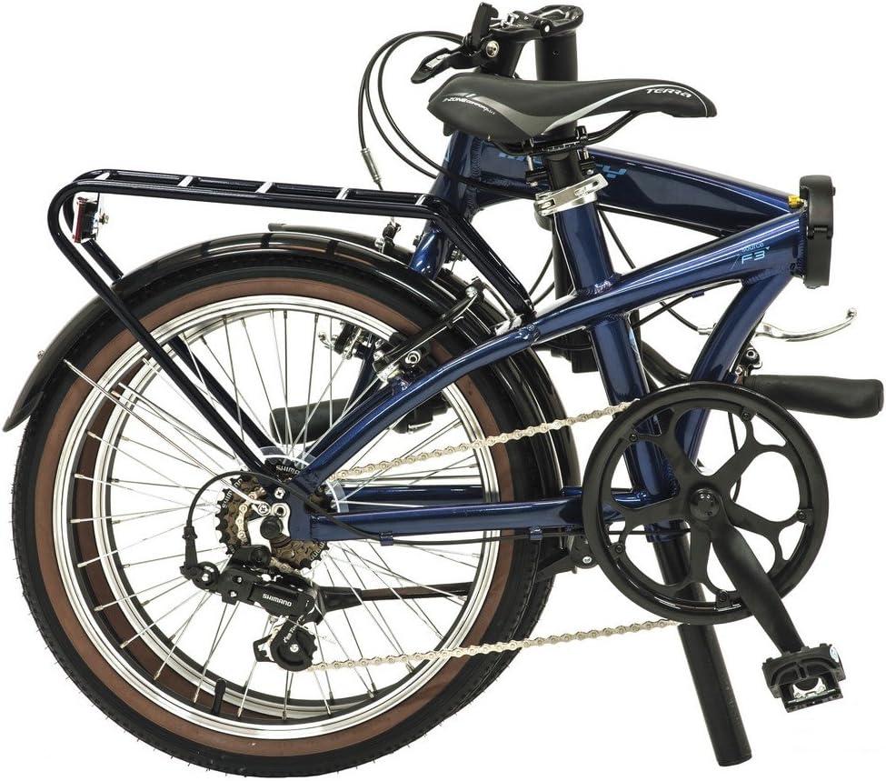 Monty Folding - Bicicleta Plegable, Color Azul Oscuro, 20